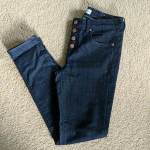 Loft Modern Skinny Button fly jeans